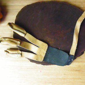 Vintage Rustic Primitive BEAR Archery Bow Glove